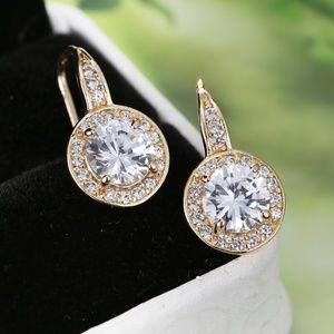 Star Halo kaleidoscope drop earrings (silver&Gold)
